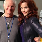 Annie Wersching behind the scenes of Dallas