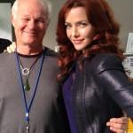 Annie Wersching behind the scenes of Dallas