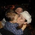 Annie Wersching and family at McNally's Irish Pub